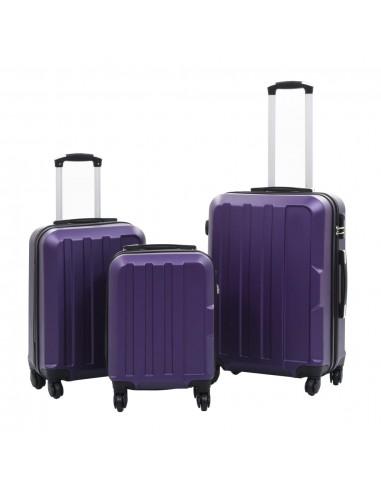 Lagaminų su ratukais rinkinys, 3 vnt., violetinis, ABS | Lagaminai | duodu.lt