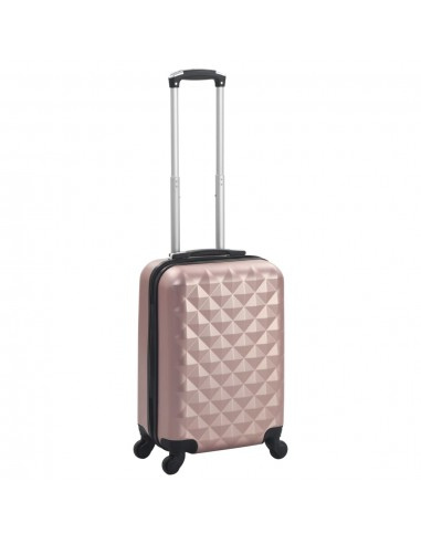 Kieto korpuso lagaminas su ratukais, rožinio aukso spalvos, ABS | Lagaminai | duodu.lt