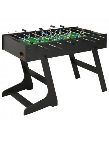 Sulankstomas stalo futbolo stalas, 121x61x80cm, juodas   Stalo Futbolo Stalai   duodu.lt