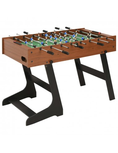 Sulankstomas stalo futbolo stalas, 121x61x80cm, rudas   Stalo Futbolo Stalai   duodu.lt