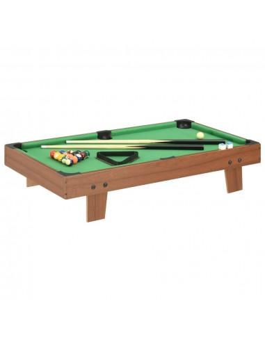 Mini biliardo stalas, 92x52x19cm, rudas ir žalias, 3 pėdų ilgio   Biliardo Stalai   duodu.lt