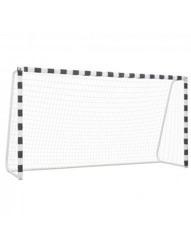 Futbolo vartai, juodos ir baltos sp., 300x160x90 cm, metalas   Futbolo vartai ir tinklai   duodu.lt