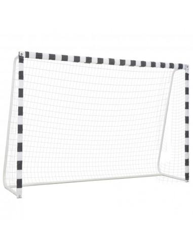 Futbolo vartai, juodos ir baltos sp., 300x200x90 cm, metalas   Futbolo vartai ir tinklai   duodu.lt