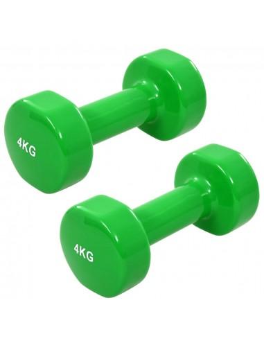 Hanteliai, 2 vnt., žalios spalvos, ketus, 8 kg | Svarmenys | duodu.lt