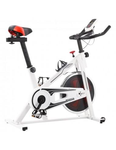 Dviratis treniruoklis su pulso jutikliais, baltos ir raud. sp. | Dviračiai treniruokliai | duodu.lt
