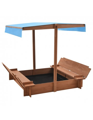 Smėlio dėžė su stogeliu, 122x120x123cm, eglės mediena | Smėlio Dėžės | duodu.lt