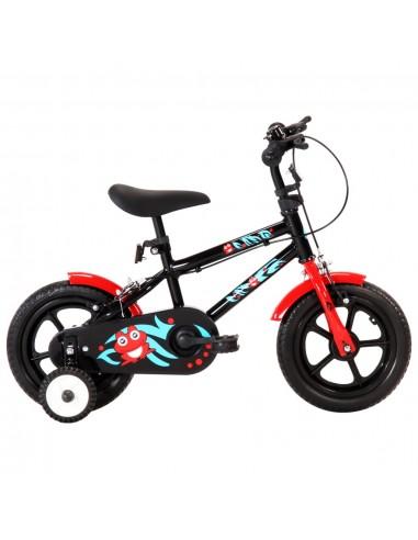 Vaikiškas dviratis, juodos ir raudonos spalvos, 12 colių ratai   Dviračiai   duodu.lt