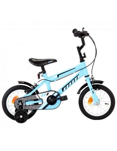 Vaikiškas dviratis, juodos ir mėlynos spalvos, 12 colių ratai | Dviračiai | duodu.lt
