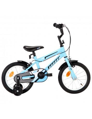 Vaikiškas dviratis, juodos ir mėlynos spalvos, 14 colių | Dviračiai | duodu.lt