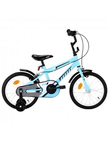 Vaikiškas dviratis, juodos ir mėlynos spalvos, 16 colių ratai | Dviračiai | duodu.lt