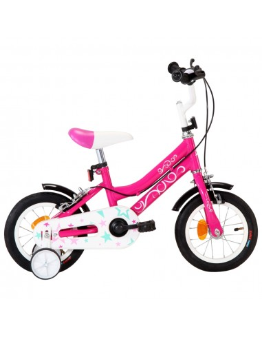 Vaikiškas dviratis, juodos ir rožinės spalvos, 12 colių ratai | Dviračiai | duodu.lt