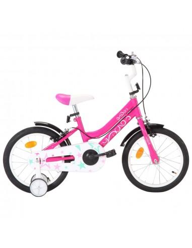 Vaikiškas dviratis, juodos ir rožinės spalvos, 16 colių ratai   Dviračiai   duodu.lt