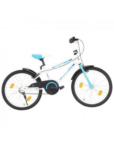Vaikiškas dviratis, mėlynos ir baltos spalvos, 20 colių   Dviračiai   duodu.lt
