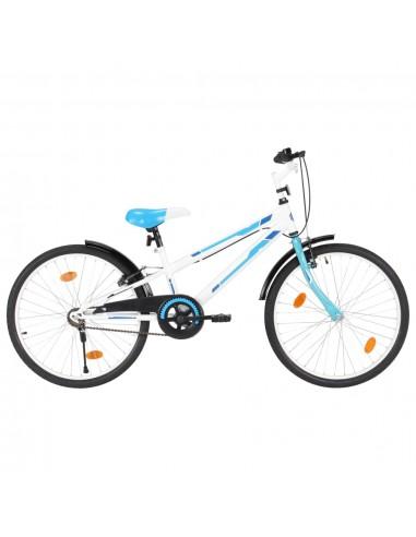 Vaikiškas dviratis, mėlynos ir baltos spalvos, 24 colių | Dviračiai | duodu.lt