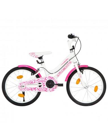 Vaikiškas dviratis, rožinės ir baltos spalvos, 18 colių   Dviračiai   duodu.lt
