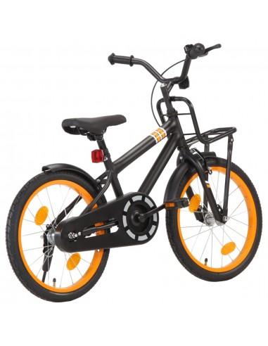 Vaikiškas dviratis su priekine bagažine, juodas ir oranžinis | Dviračiai | duodu.lt