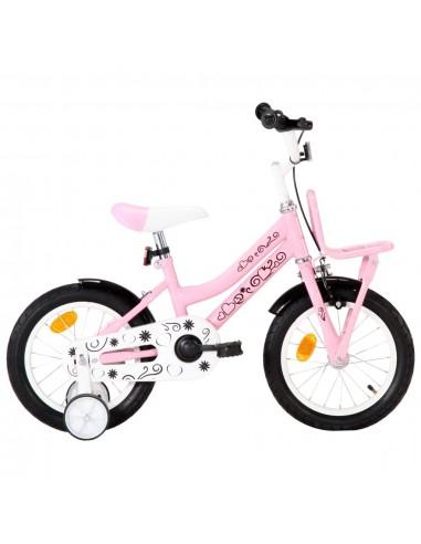 Vaikiškas dviratis su priekine bagažine, baltas ir rožinis | Dviračiai | duodu.lt