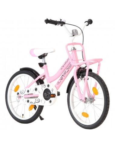 Vaikiškas dviratis su priekine bagažine, rožinis ir juodas | Dviračiai | duodu.lt