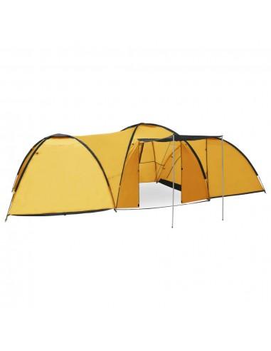 Stovyklavimo palapinė, 650x240x190cm, geltona, iglu tipo   Palapinės   duodu.lt