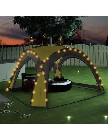 Proginė palapinė su LED ir 4 sienomis, žalia, 3,6x3,6x2,3m | Tentai ir Pavėsinės | duodu.lt