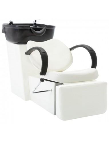 Kirpyklos kėdė su plautuve, juoda ir balta, dirbtinė oda   Salonų Kėdės   duodu.lt