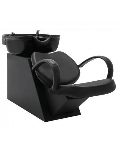 Kirpyklos kėdė su plautuve, juodos spalvos, dirbtinė oda   Salonų Kėdės   duodu.lt