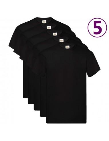 Fruit of the Loom Originalūs marškinėliai, 5vnt., juodi, medvilnė, M   Marškiniai ir Palaidinės   duodu.lt
