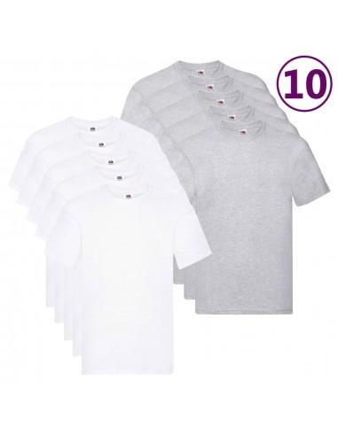 Fruit of the Loom Originalūs marškinėliai, 10vnt., medvilnė, 5XL   Marškiniai ir Palaidinės   duodu.lt