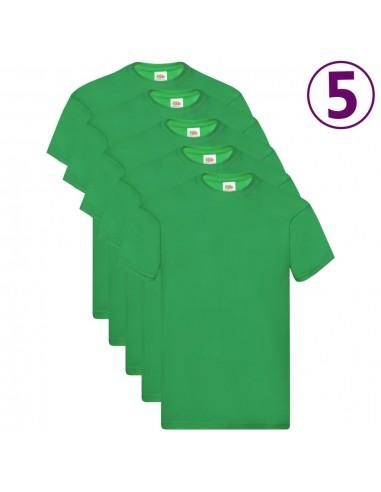 Fruit of the Loom Originalūs marškinėliai, 5vnt., žali, medvilnė, L | Marškiniai ir Palaidinės | duodu.lt