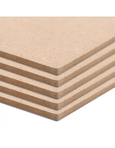 MDF plokščių lakštai, 5vnt., stačiakampiai, 120x60cm, 2,5mm | Medžiagos dailiesiems darbams | duodu.lt