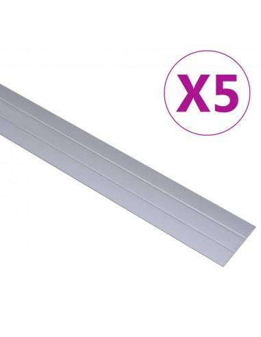Grindų profiliai, 5vnt., sidabrinės spalvos, aliuminis, 100cm   Laiptai   duodu.lt