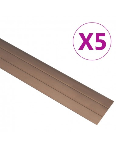 Grindų profiliai, 5vnt., rudos spalvos, aliuminis, 134cm   Laiptai   duodu.lt