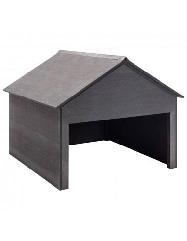 Vejapjovės garažas, pilkos spalvos, 80x80x70cm, WPC | Vejapjovės uždangalai | duodu.lt