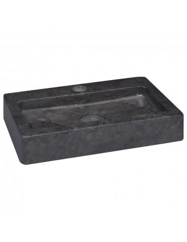 Praustuvas, juodos spalvos, 38x24x6,5cm, marmuras  | Vonios praustuvai | duodu.lt