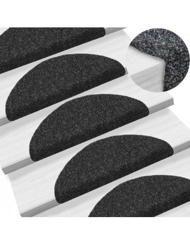 Lipnūs laiptų kilimėliai, 10vnt., juodi, 54x16x4cm  | Laiptų kilimėliai | duodu.lt