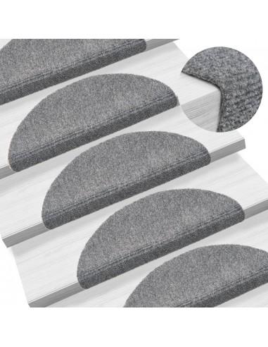Lipnūs laiptų kilimėliai, 5vnt., šviesiai pilki, 54x16x4cm | Laiptų kilimėliai | duodu.lt