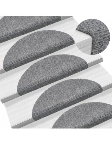 Lipnūs laiptų kilimėliai, 10vnt., šviesiai pilki, 54x16x4cm | Laiptų kilimėliai | duodu.lt
