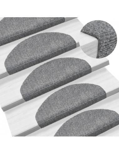 Lipnūs laiptų kilimėliai, 10vnt., šviesiai pilki, 65x21x4cm   Laiptų kilimėliai   duodu.lt