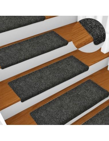 Laiptų kilimėliai, 10vnt., pilki, 65x25cm, perforuoti adatomis | Laiptų kilimėliai | duodu.lt