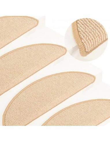 Laiptų kilimėliai, 15vnt., kreminės spalvos, 56x17x3cm | Laiptų kilimėliai | duodu.lt