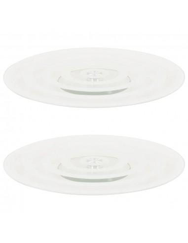 Serviravimo padėklai, 2vnt., skaidrūs, grūdintas stiklas, 30cm | Serviravimo lėkštės | duodu.lt