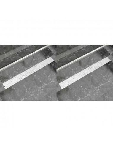Pailgi dušo latakai, 2vnt., 1030x140mm, nerūdijantis plienas | Sifonai | duodu.lt