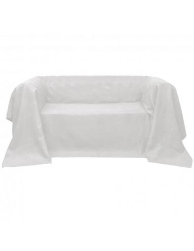 Sofos užvalkalas, kremo spalvos, mikro zomša 140 x 210 cm   Baldų Užvalkalai   duodu.lt