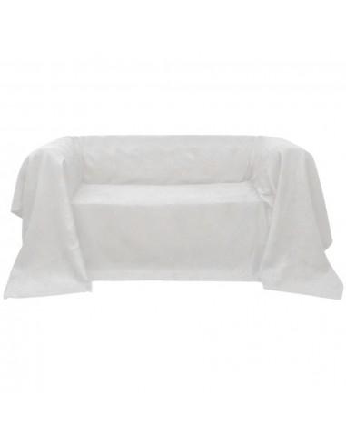 Sofos užvalkalas, kremo spalvos, mikro zomša 210 x 280 cm | Baldų Užvalkalai | duodu.lt