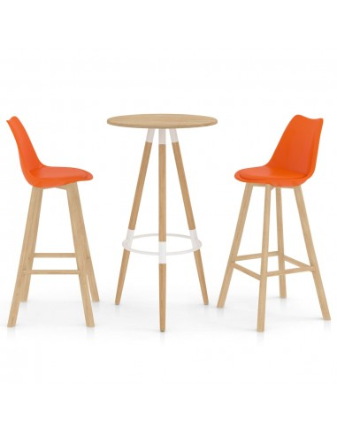 Baro baldų komplektas, 3 dalių, oranžinis (287257+289174)   Virtuvės ir Valgomojo Baldų Komplektai   duodu.lt