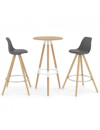 Baro baldų komplektas, 3 dalių, pilkos spalvos (287257+287267) | Virtuvės ir Valgomojo Baldų Komplektai | duodu.lt