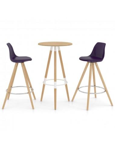 Baro baldų komplektas, 3 dalių, violetinis (287257+289175) | Virtuvės ir Valgomojo Baldų Komplektai | duodu.lt