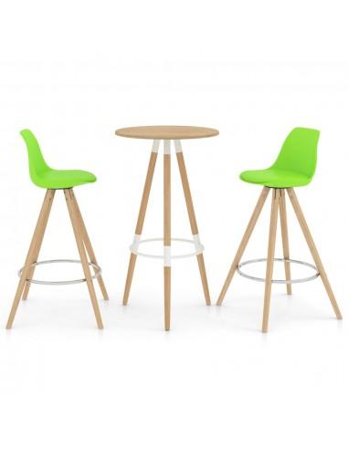 Baro baldų komplektas, 3 dalių, žalios spalvos (287257+289176)   Virtuvės ir Valgomojo Baldų Komplektai   duodu.lt