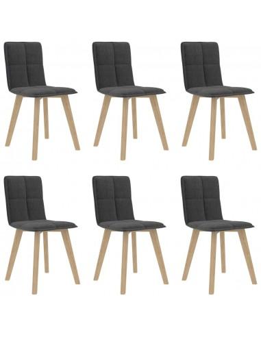 Valgomojo kėdės, 6vnt., tamsiai pilkos (289491+289501)   Virtuvės ir Valgomojo Kėdės   duodu.lt