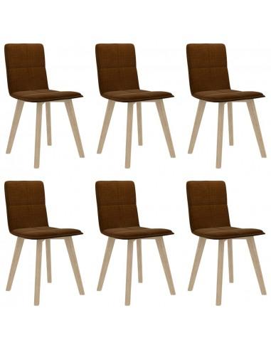 Valgomojo kėdės, 6vnt., rudos spalvos (289493+289503) | Virtuvės ir Valgomojo Kėdės | duodu.lt